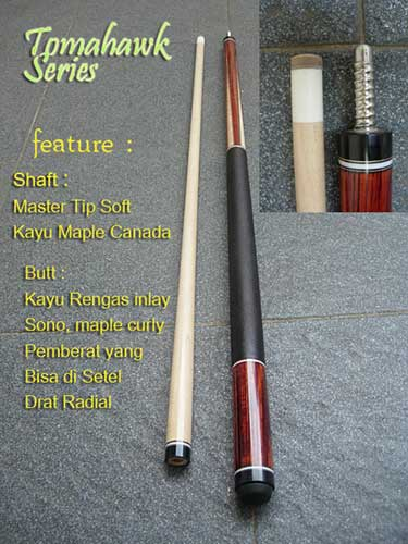 Stik Cue Billiard merk Champion Tomahawk