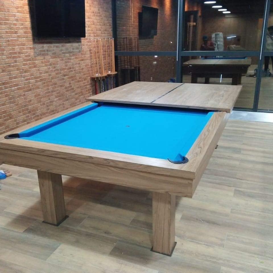 Meja Billiard 3 fungsi makan pingpong billiard