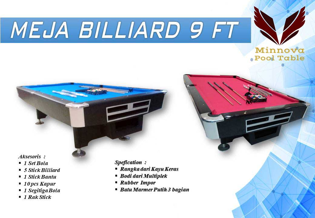 Meja Billiard Minnova 9 ft New Edition