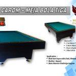 Minnova-Meja-Billiard-Carom-Bola-Tiga Tanpa Lobang