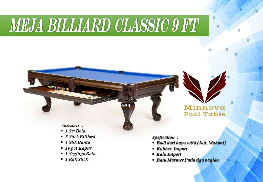 Minnova-Meja-Billiard-Classic-Kayu-Solid-9-ft