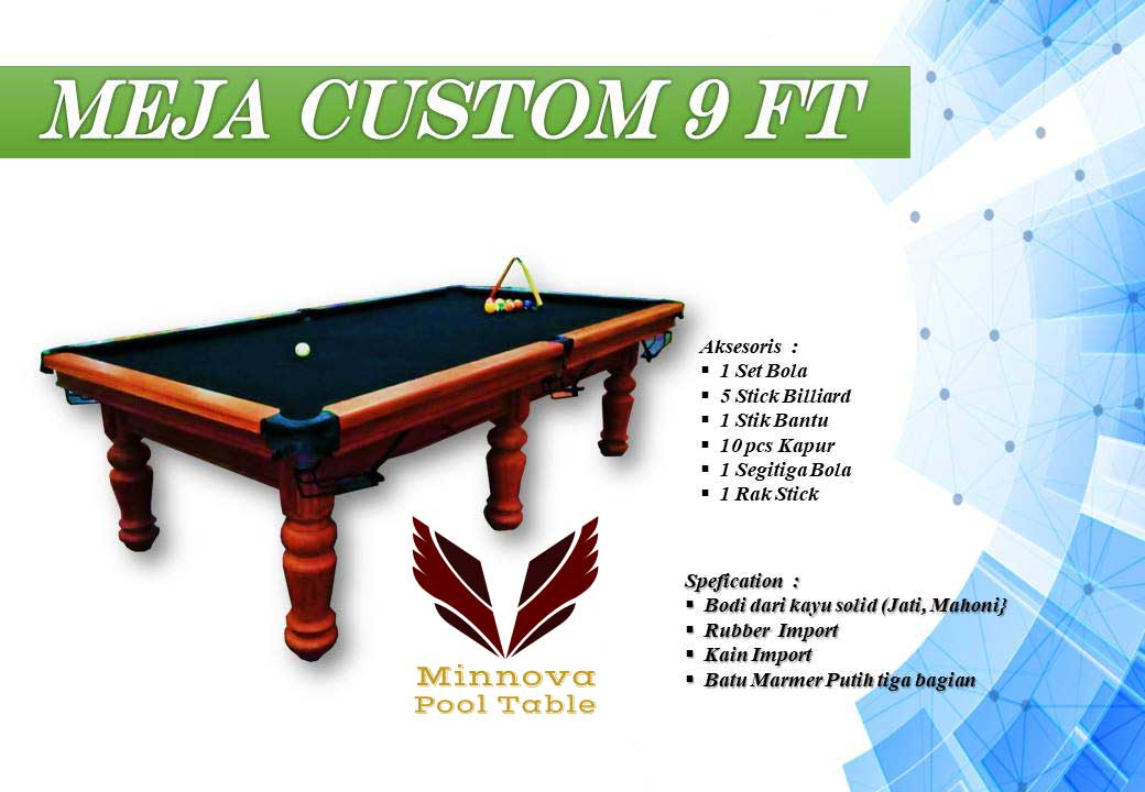 Meja Billiard Minnova Custom 9 ft