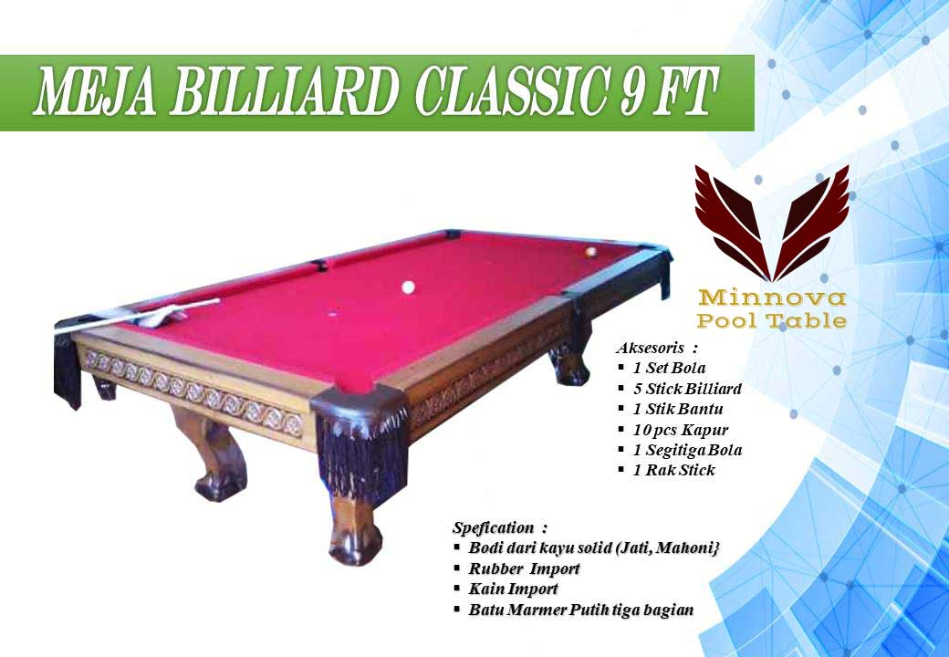 Minnova-Meja-Billiard-classic-Ukir-9-ft