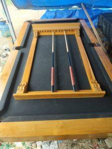 Rak Stik Billiard Classic dari Kayu Jati